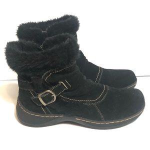 BareTraps Extreme Black Suede Fur Ankle Booties
